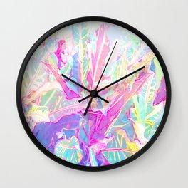 Tropical croton leaves 1/2 Wall Clock