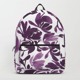 Purple Peonies and Poppies Backpack