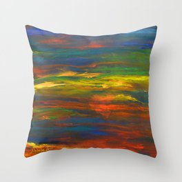 CHAKRA ENERGY WITH HEART Throw Pillow