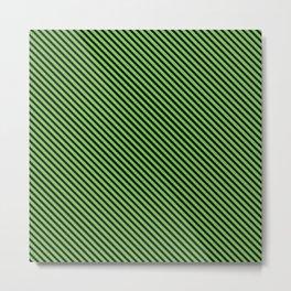 Green Flash and Black Stripe Metal Print