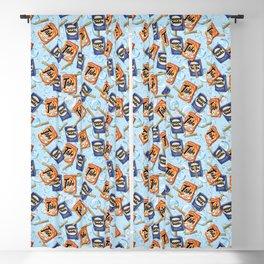 Retro Laundry Room Blackout Curtain