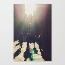 streets of siena Canvas Print
