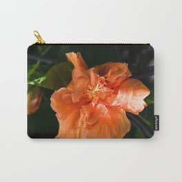 Apricot Hibiscus Carry-All Pouch