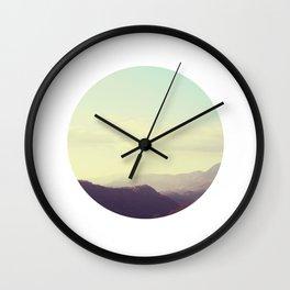 Dreamy mountain photograph of Tuscany Wall Clock