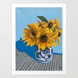 Labor Day Sunflowers Art Print