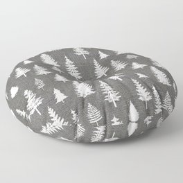 Pine Forest on Dark Linen Floor Pillow