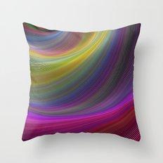 Magic waves Throw Pillow