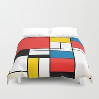 mondrian Duvet Covers featuring Mondrian  by Studio 401