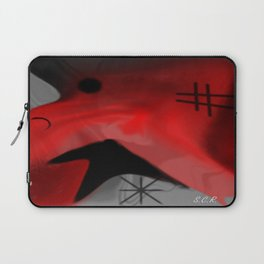 Red Blanket Abstract By Saribelle Rodriguez Laptop Sleeve