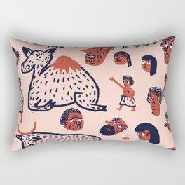 Desert People Rectangular Pillow