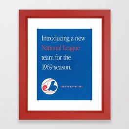 Montreal Expos Advertisement Framed Art Print