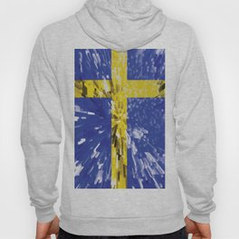 Extruded Flag of Sweden Hoody