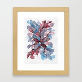 Crystaline - Watercolour + Ink drawing Framed Art Print