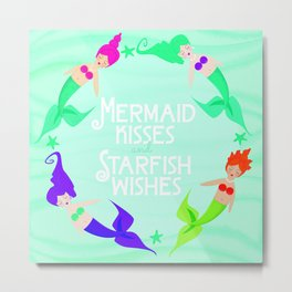 Mermaid Kisses Metal Print