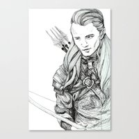 legolas Canvas Prints featuring Legolas by Margret Stewart