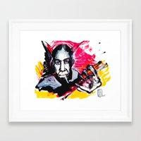 allyson johnson Framed Art Prints featuring Robert Johnson by Matteo Lotti
