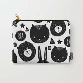 Black and White Animals Carry-All Pouch