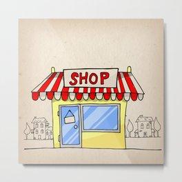 Small shop Metal Print