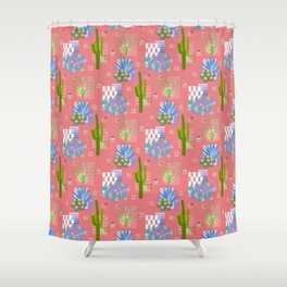 Modernism Desert Landscape Sunset Shower Curtain