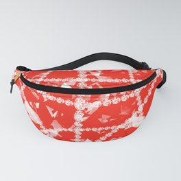 Red Diamonds Fanny Pack