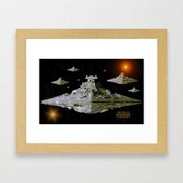 Galactic Battle Cruisers  Framed Art Print