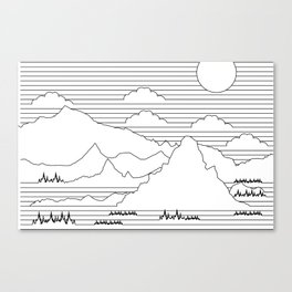 Mountains and Lines Canvas Print