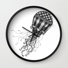Jellyfish Air Balloon Wall Clock