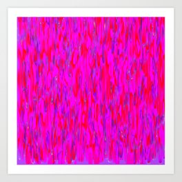 red purple verticals Art Print