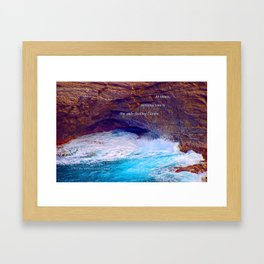 """""""Kauai's Land's End #9"""" with poem: At Times Framed Art Print"""