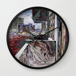 Abstract Urban Structure Wall Clock
