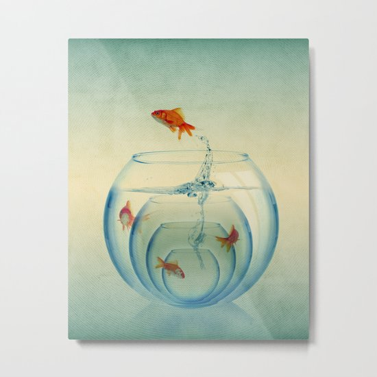 Goldfish Bowl Metal Print