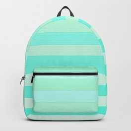 Green Teal Stripe Fade Backpack