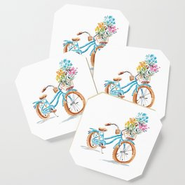 Bike with flowers Coaster