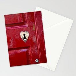 Heart Shaped Lock Stationery Cards
