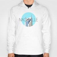 nashville Hoodies featuring NASHVILLE by Lauren Jane Peterson