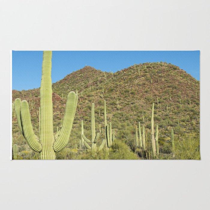 Carol M Highsmith - Saguaro Cactus near Tucson, Arizona Rug