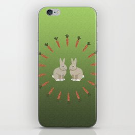 Carrots and Rabbits iPhone Skin