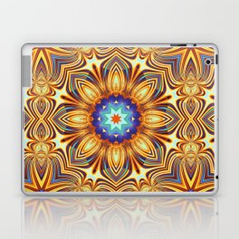Kaleidoscope abstract with a flower shape and tribal patterns Laptop & iPad Skin