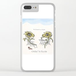 Chillin' in Florida Clear iPhone Case