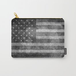 Old Glory with worn grungy treatment Carry-All Pouch