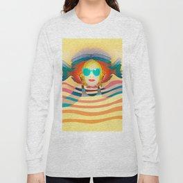 Swimming on Yellow Long Sleeve T-shirt
