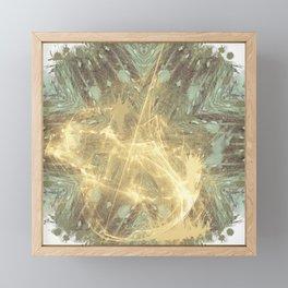 Kaos theory mandala Framed Mini Art Print