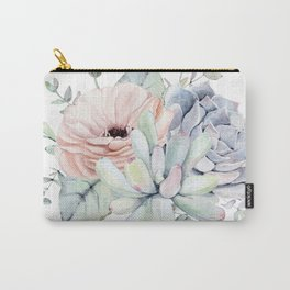 Pretty Succulents by Nature Magick Carry-All Pouch