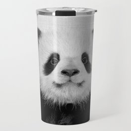 Panda Bear - Black & White Travel Mug