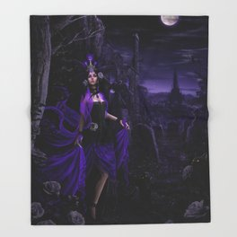 Dark Sorceress Throw Blanket
