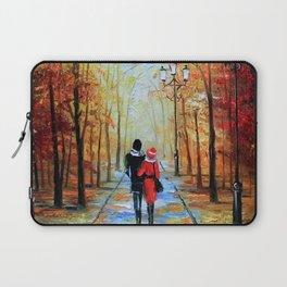 romantic autumn stroll Laptop Sleeve