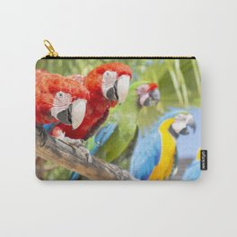 Curious macaws Carry-All Pouch