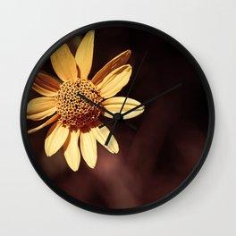 Yellow coneflower/sunflower Wall Clock