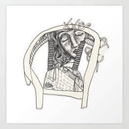 Three Sleepers - Chair Art Print