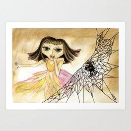 Sat down beside her Art Print